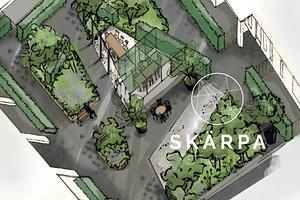 takträdgård bjälklag gestaltningsförslag växtkomptens dagvatten landskap arkitekt trädgårdsingenjör trädgård Lund Skåne