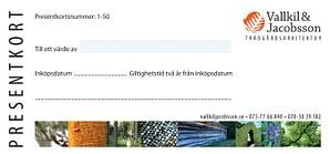 Presentkort trädgård rådgivning design